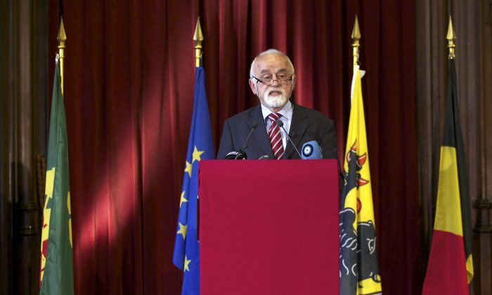Flemish Parliament Chairman Jan Peumans enraged Madrid by saying that the lock up of Catalan leaders meant Spain was no longer a democracy fit for membership of the European Union. (Nicolas Maeterlinck/AFP/Getty Images)