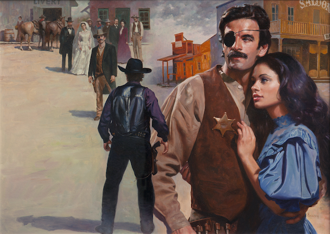 """""""Lawman,"""" 1992, by Max Ginsburg. Oil, 22 inches by 31 inches. (Courtesy of Tim Newton)"""