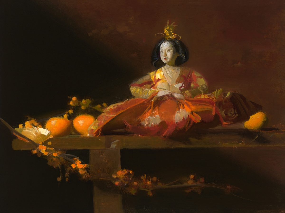 """""""Japanese Clementines,"""" 2018, by Sherrie McGraw. Oil on board, 9 inches by 12 inches. (Courtesy of Tim Newton)"""