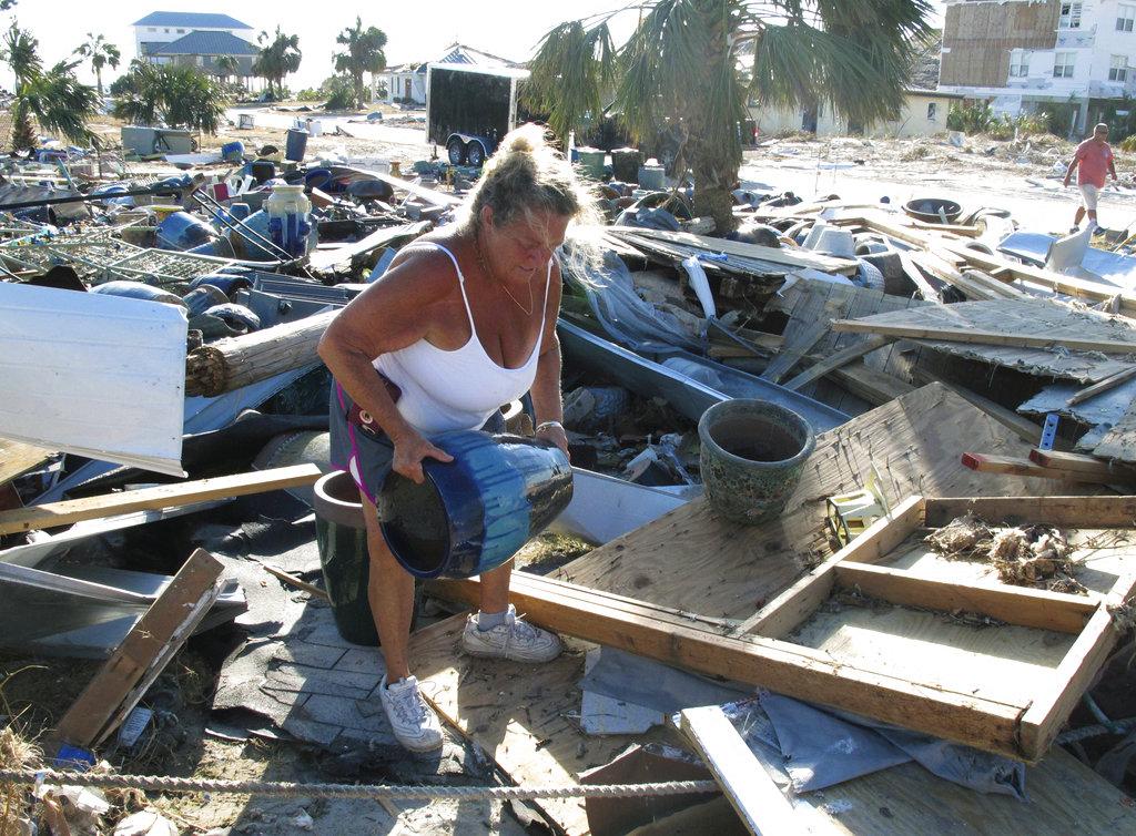 Woman salvages unbroken clay pot
