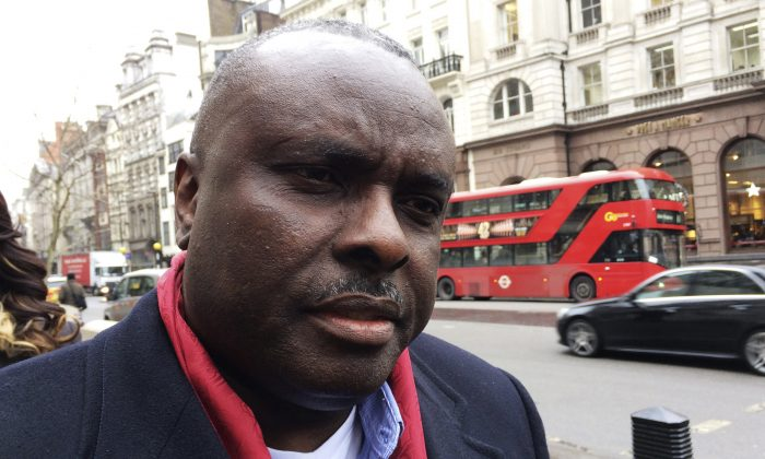 James Ibori, former governor of Nigeria's Delta State, speaks after a court hearing outside the Royal Courts of Justice in London on Jan 31, 2017. (Reuters/Estelle Shirbon/File Photo)