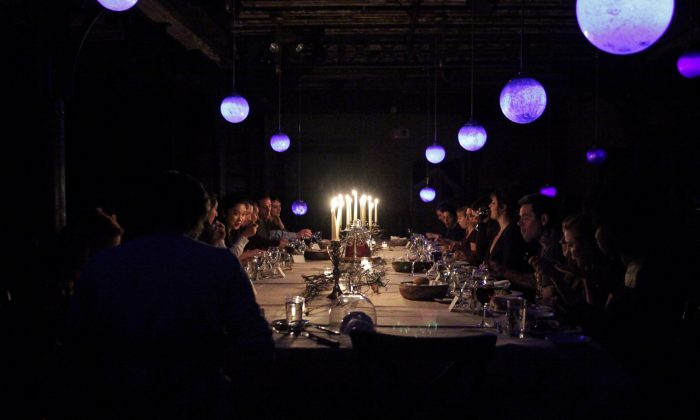 "During ""At The Illusionist's Table,"" the audience are dinner guests. (Giafrese/The McKittrick Hotel)"