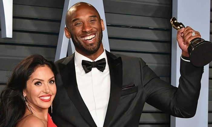 Vanessa Bryant (L) and Kobe Bryant attend the 2018 Vanity Fair Oscar Party at Wallis Annenberg Center for the Performing Arts in Beverly Hills, California on March 4, 2018 (Dia Dipasupil/Getty Images)