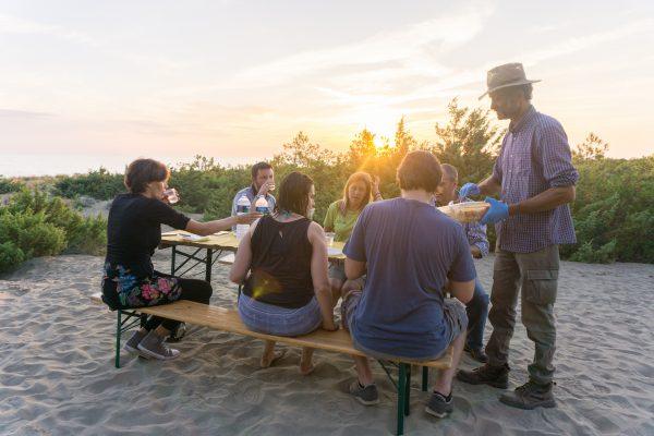 Picnic of local products in Maremma Park