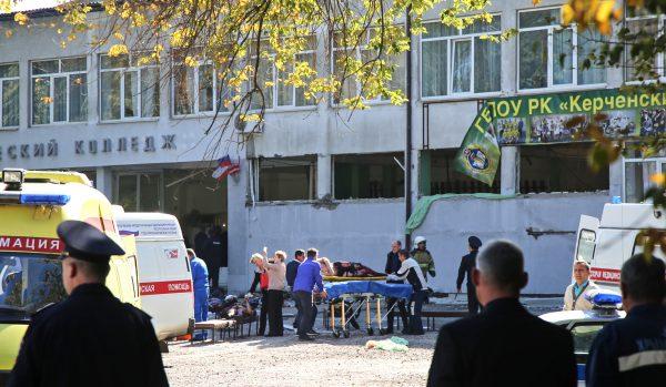Rescuers injured victim blast Kerch