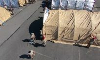 Tents Erected at Florida's Tyndall Air Force Base, Struck by Hurricane Michael