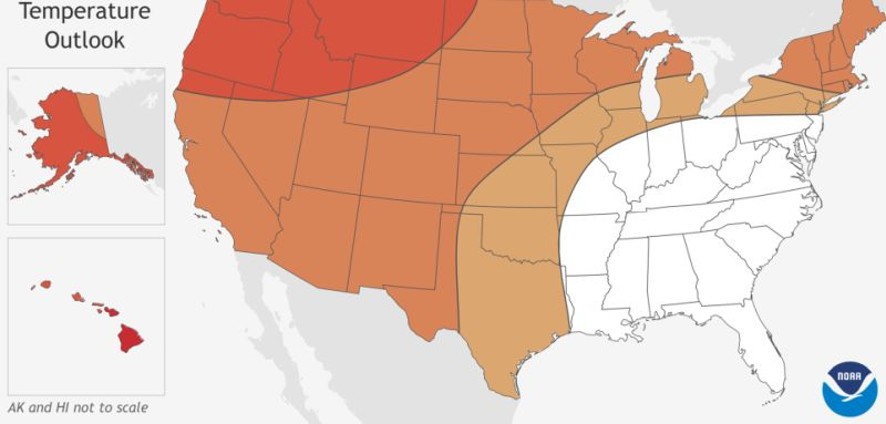 warmer temperatures in the us