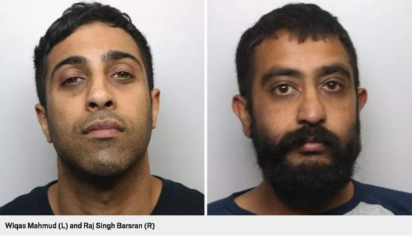 grooming gang convicts Left: Wiqas Mahmud (Vic). Right: Raj Singh Barsran (Raj).