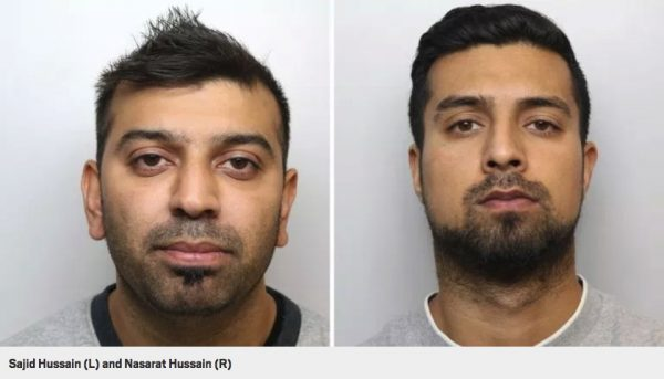 grooming gang convicts Left: Sajid Hussain (Fish). Right: Nasarat Hussain (Nurse).
