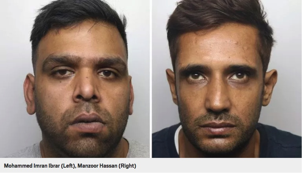 grooming gang Left: Mohammed Imran Ibrar (Bully). Right: Manzoor Hassan (Big Manny).