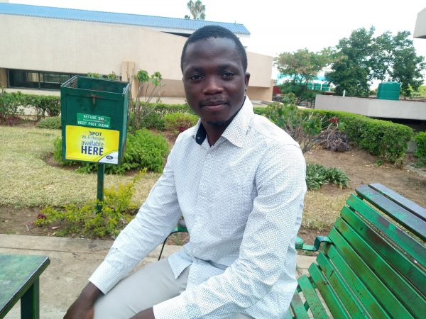 Gift Kingstone, 22, a student at Malawi Polytechnic