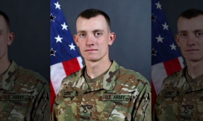 Pfc. Matthew Cox of the Iowa National Guard, who deployed to Guantanamo Bay, died while swimming at a beach on Oct. 16, 2018. (US Army)