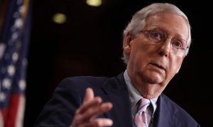 Angry Protester Confronts Mitch McConnell at Restaurant, Gets Told to 'Leave Him Alone'