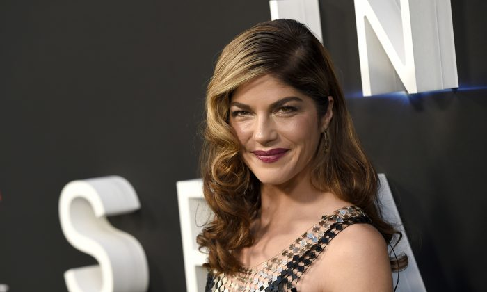 "Selma Blair arrives at the Los Angeles premiere of ""Lost in Space"" at the ArcLight Cinerama Dome on April 9, 2018. (Chris Pizzello/Invision/AP, File)"