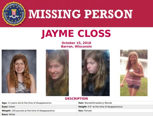FBI missing person poster