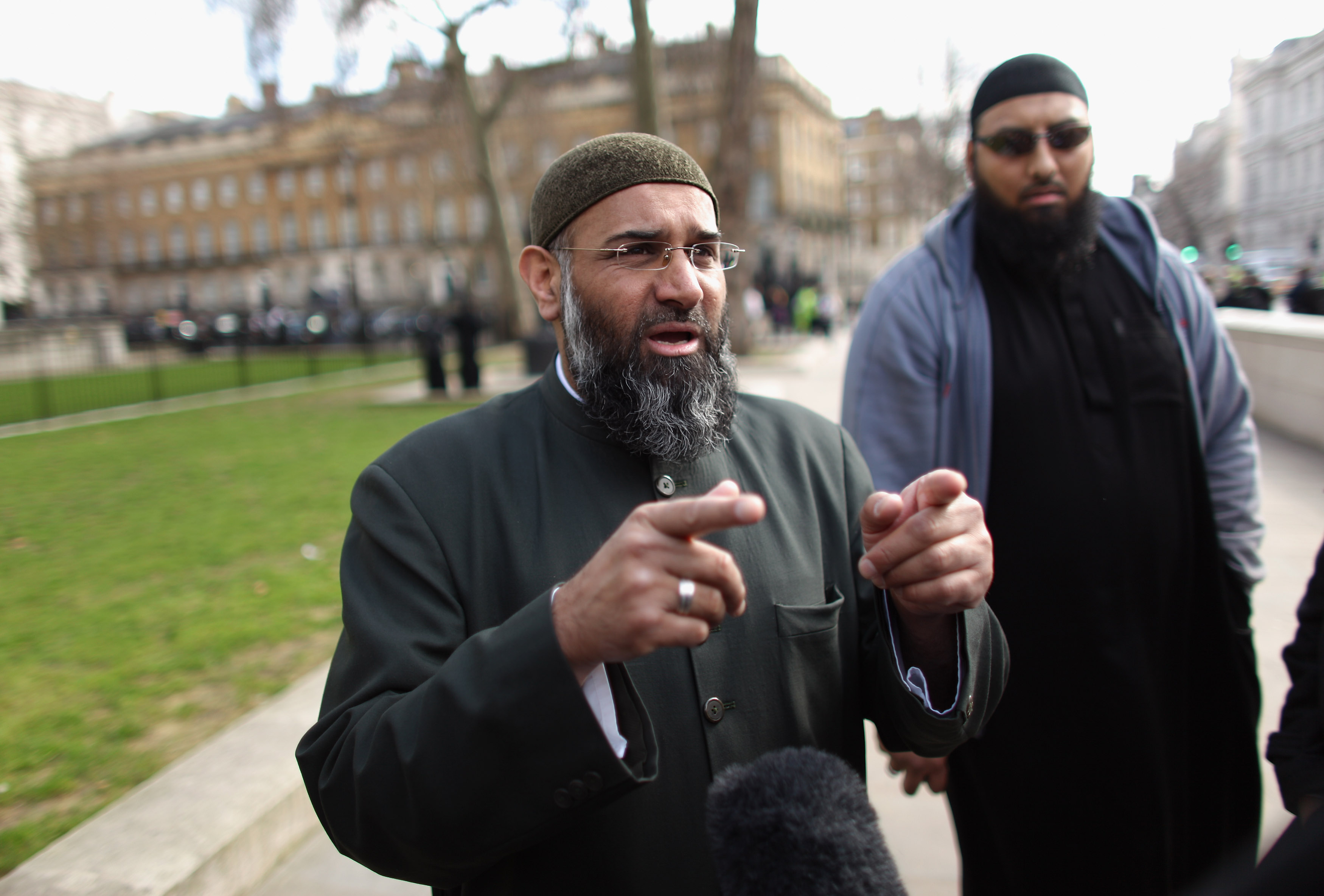 Anjem Choudary gestures