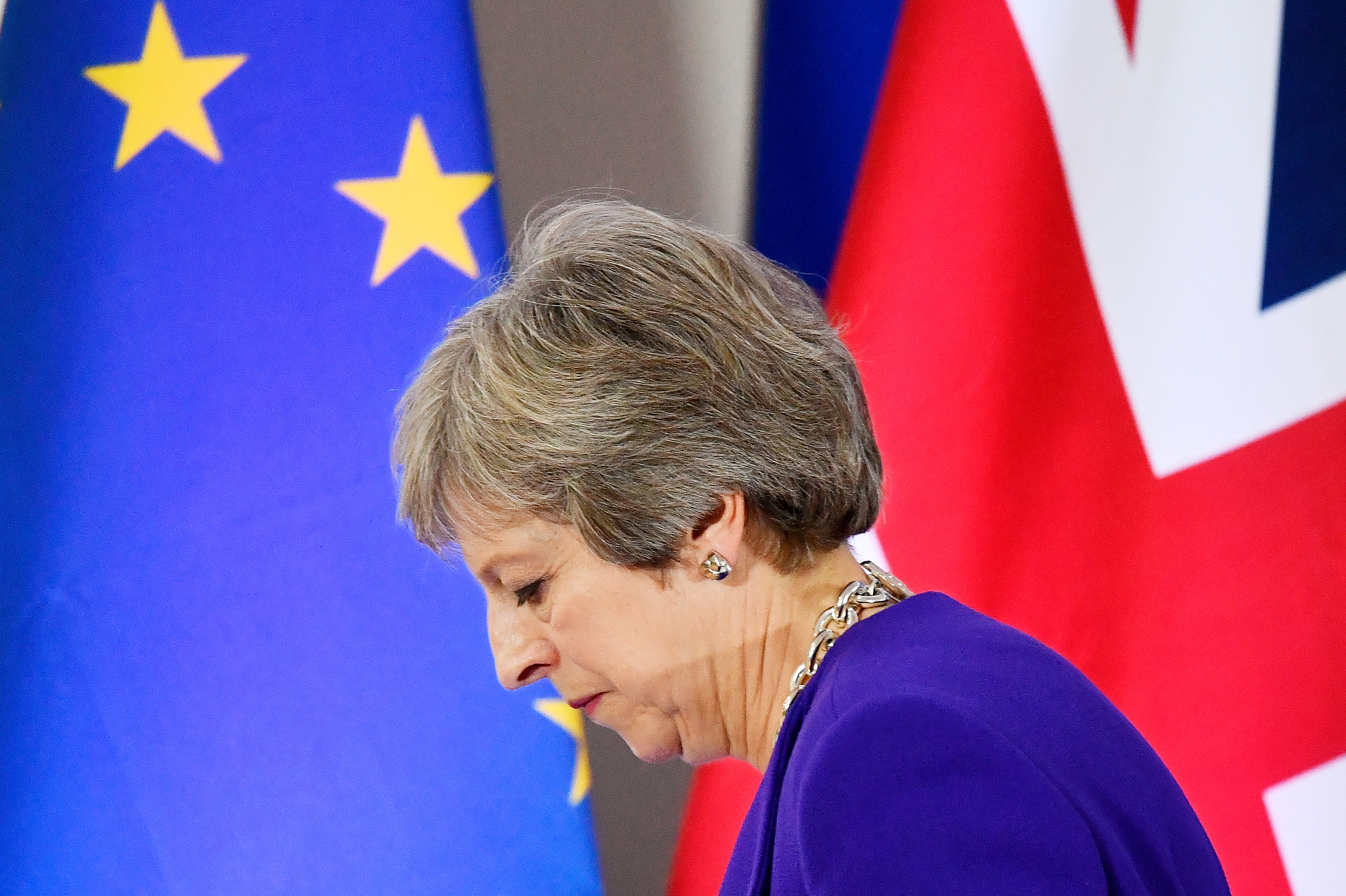 Theresa May conference European leaders