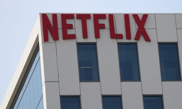 The Netflix logo is seen on their office in Hollywood, Los Angeles, on July 16, 2018. (Lucy Nicholson/Reuters)