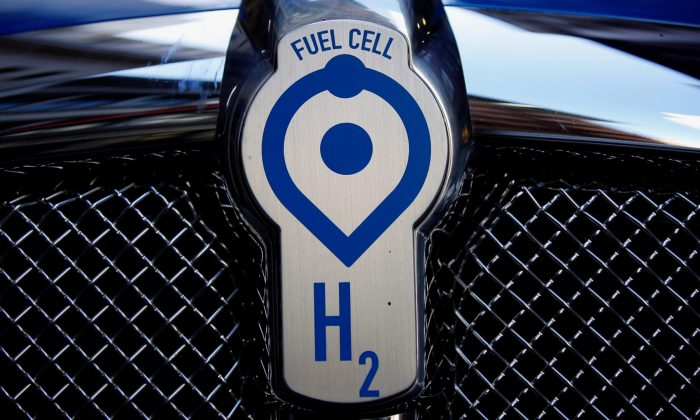 A Toyota Project Portal hydrogen fuel cell electric semi-truck is shown during an event in San Francisco, California, on Sept. 13, 2018. (Stephen Lam/Reuters)