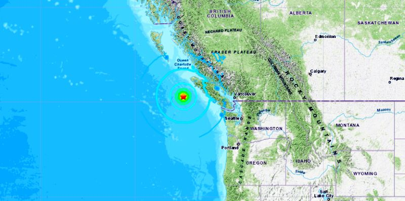earthquake today of brtish canada