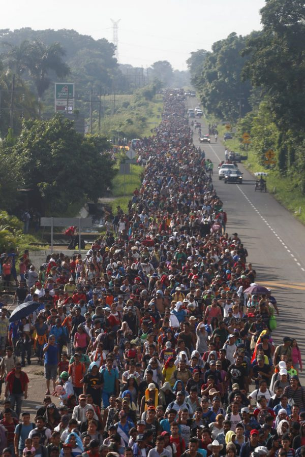 migrant caravan swells to 5,000 or more