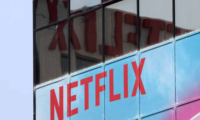 The Netflix logo is seen on their office in Hollywood, Los Angeles, Calif., Jul. 16, 2018. (Reuters/Lucy Nicholson)