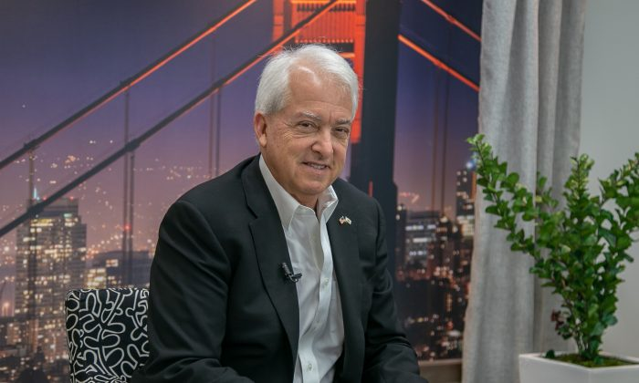 Republican candidate for governor John Cox in the northern California offices of The Epoch Times, on Oct. 22, 2018. (Mark Cao/The Epoch Times)