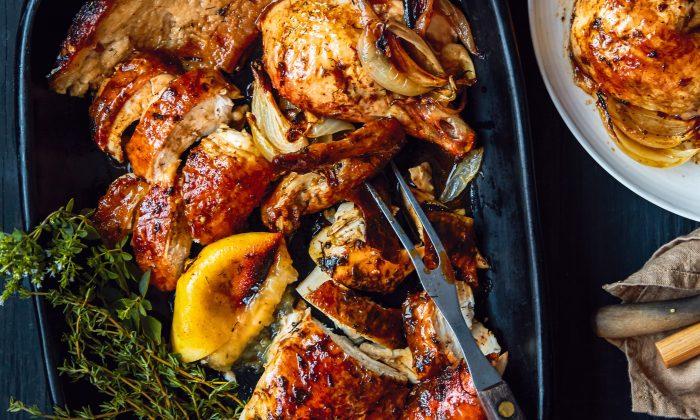 Herb-Butter Chicken. (Ellen Silverstein)