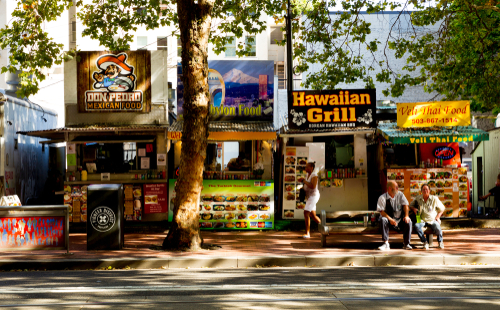 Portland, Oregon, ranked the country's best, wallet-friendly food city, is home to a variety of food trucks, among other delicious offerings. (Shutterstock)