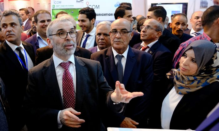 Mustafa Sanalla, the chairman of state oil firm NOC, attends Benghazi International forum and Exhibition of Oil and Gas in Benghazi, Libya October 24, 2018.  (Esam Omran Al-Fetori/Reuters)