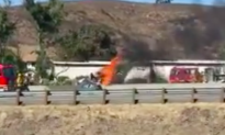 Small Plane Crash on Busy Southern California Freeway, Temporary Lane Closures
