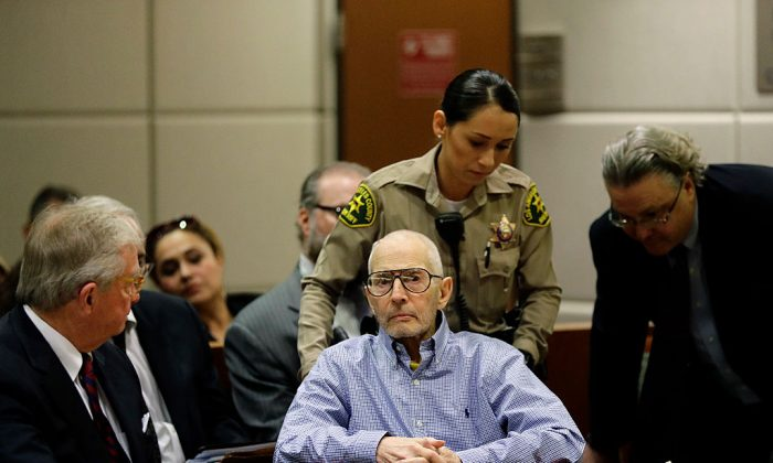 Real Estate Heir Robert Durst appears in the Airport Branch of the Los Angeles County Superior Court during a preliminary hearing in Los Angeles, Calif., on Dec. 21, 2016. (Jae C. Hong-pool/Getty Images)