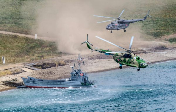 Russian military landing Vostok-2018