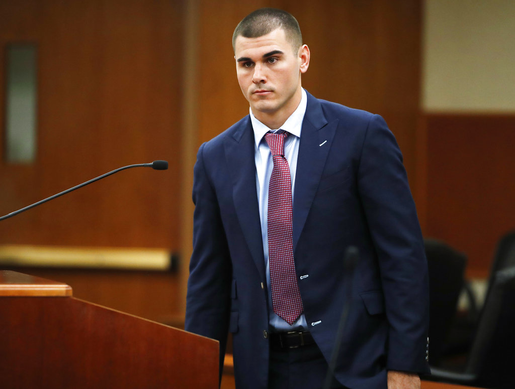 chad kelly appears in court after arrest