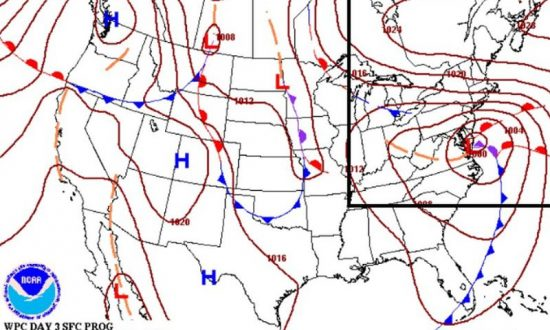 Nor'easter to Hit US East Coast This Weekend