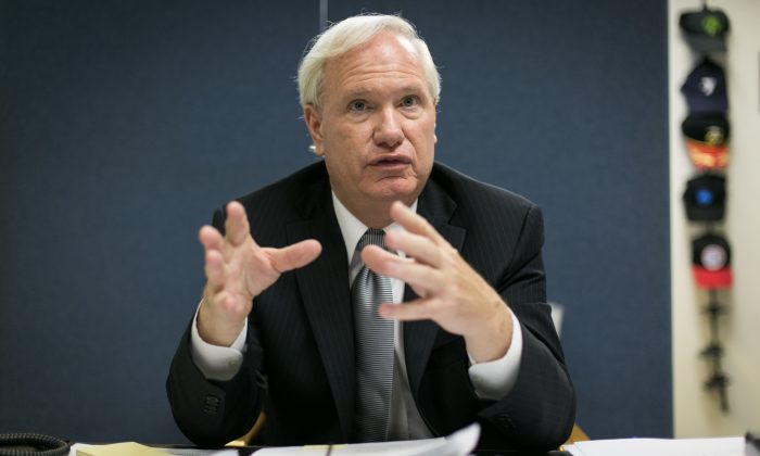 Senator Tony Avella gestures as he speaks to an Epoch Times reporter in his office in Queens, New York City, on June 24, 2014. (Benjamin Chasteen/Epoch Times)