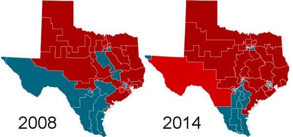 Texas political maps