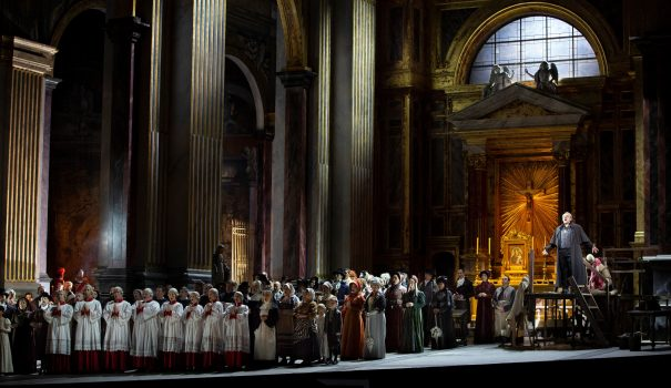A scene from Act I of Puccini's Tosca