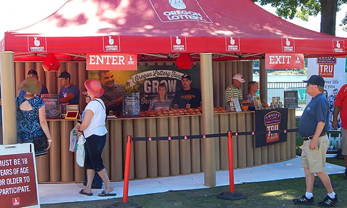 The Oregon Lottery sets up tents or booths at special events. (www.oregonlottery.org)