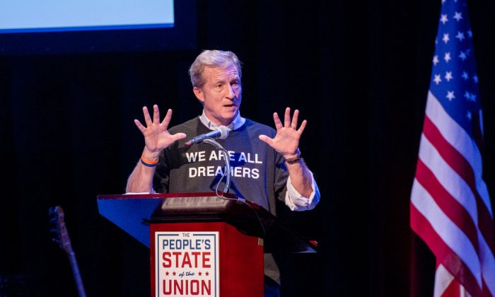 Tom Steyer speaks onstage during The People's State Of The Union at Town Hall in New York City on Jan. 29, 2018. (Roy Rochlin/Getty Images)