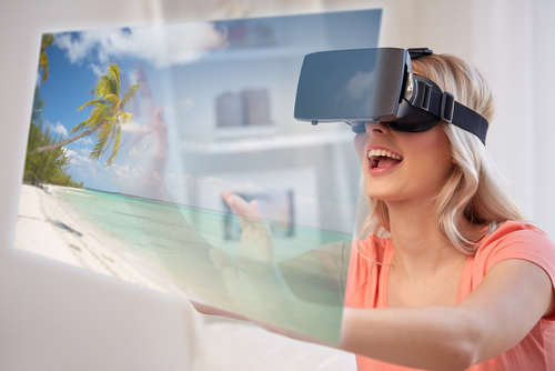 Participants in a virtual reality travel experience reported a sense of relaxation, similar to that gained from travel in real life. (Shutterstock)
