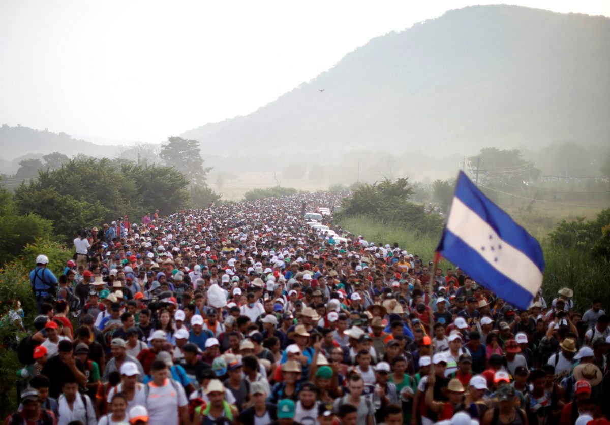 caravan thousands migrants Central America