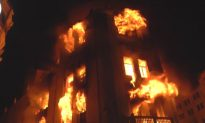 Fire Engulfs Historic Building in Peru