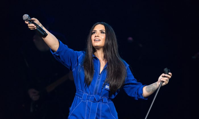 Demi Lovato performs live exclusively for American Airlines cardmembers at House of Blues Dallas in Dallas, on Feb. 9, 2018. (Christopher Polk/Getty Images for MasterCard)