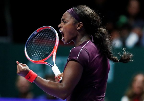 Sloane Stephens reacts singles final