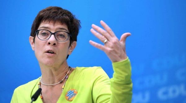 Secretary General of the Christian Democratic Union Annegret Kramp-Karrenbauer