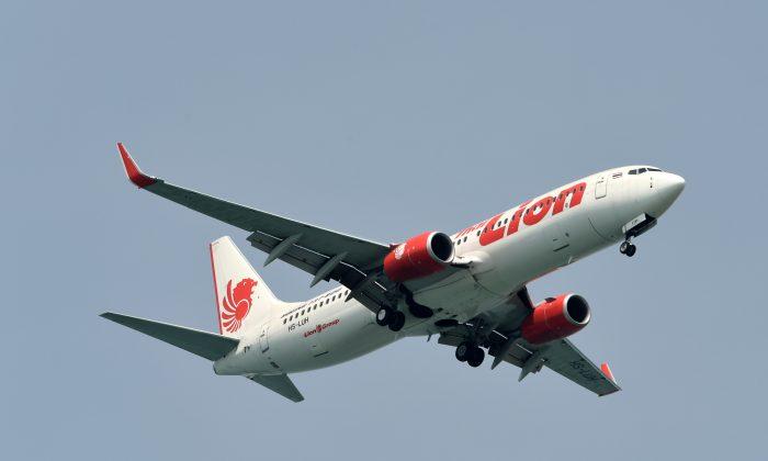 A Lion Air boeing 737-800 plane prepares to land. (Rosland Rahman/AFP/Getty Images)