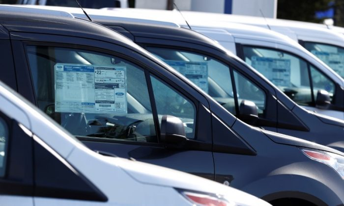 Vehicles for sale are seen at Serramonte Ford in Colma, California, on Oct. 3, 2017. (Stephen Lam/Reuters)