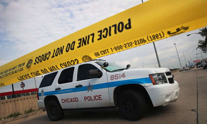 Chicago police vehicle in a file photo. (Scott Olson/Getty Images)