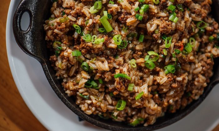 Dirty rice, a Cajun classic, gets color and loads of flavor from rich, caramelized meat. (Denny Culbert)